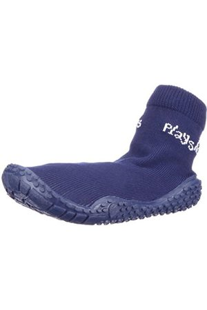 Sandals - Playshoes Unisex-Child UV Protection Aqua Socks Bathing Beach Thong Sandals and Pool Shoes 174801 4 UK Child