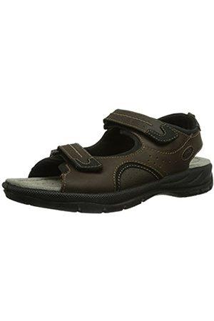 Men Sandals - Jomos Mens Activa 8 Durchgängies Plateau Braun (capucino/schwarz) Size: 44