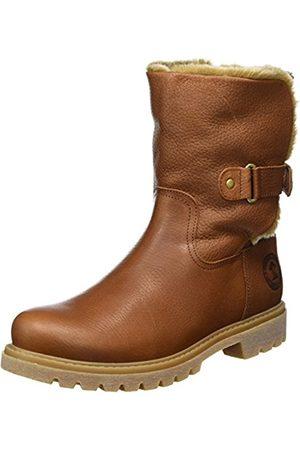 Women Cowboy & Biker Boots - Panama Jack Women's Felia B8 Warm lined biker boots half length (Cuero / Bark) Size: 4