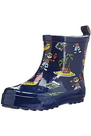 Boys Wellingtons - Playshoes Boys Rubber Boots Pirates Island Allover Short