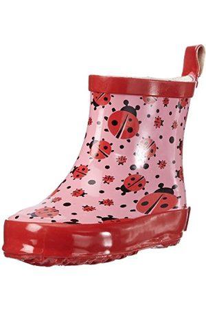 Girls Boots - Playshoes GirlsRubberBootsShortAlloverLadybug