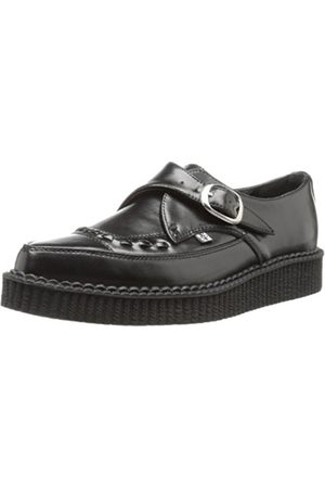 T.U.K. TUK Pointed Creeper, Unisex-Adult Trainer (Noir ( Leather With Monk Buckle))