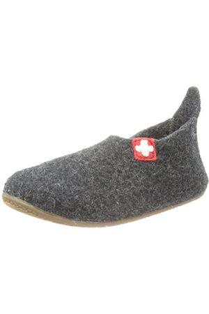 Slippers - Living Kitzbühel Slipper Schweizer Kreuz Slippers Unisex-Child Gray Size: 38/5 UK