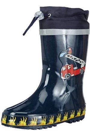 Boys Boots - Playshoes BoysRubberBootsFireBrigade