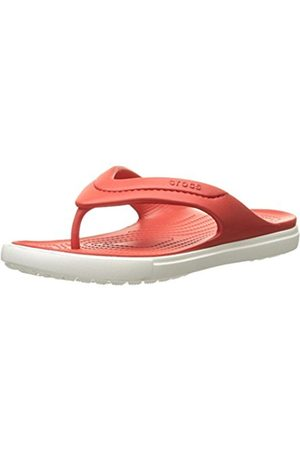 Slippers - Crocs Citilane Flip Flm/Whi, Unisex Adults' Open Back Slippers, (Flame/ 884)
