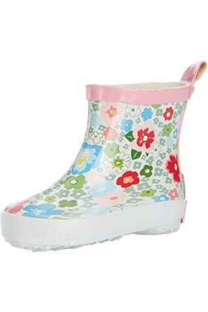 Girls Boots - Playshoes GirlsRubberBootsShortFlowers