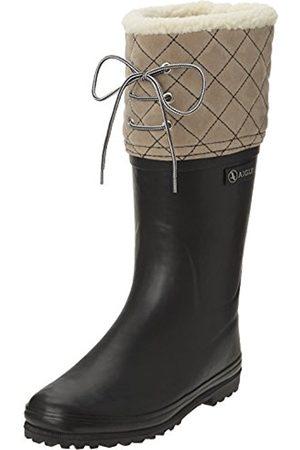 Women Boots - Aigle Women's Polka Giboulee Wellingtons Boots - (Bleu (Marine/ )