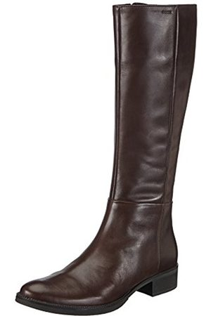 Women Ankle Boots - Geox D Mendi Stivali P, Women's Ankle Riding Boots, Brown (Coffeec6009)