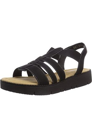 Girls Sandals - Rieker Girls teens Ankle Strap Sandals Schwarz (schwarz 01) Size: 37 EU