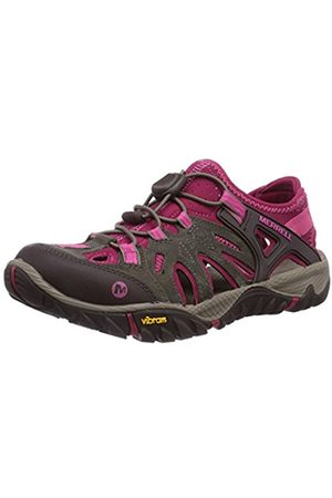 Women Shoes - Merrell All Out Blaze, Women's Speed-Laces Track and Field Shoes - Boulder/Fuchsia