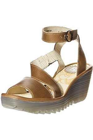 Ankle Strap Women's Yesk Wedge Sandals Camel CBQrdoexW