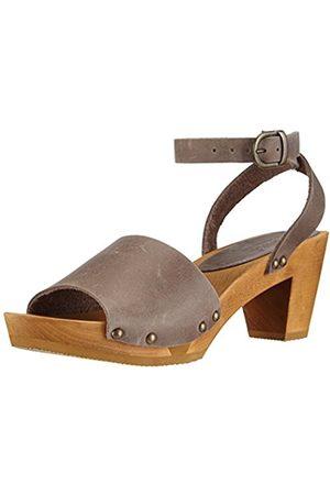Women Sandals - Sanita Women's Yara Square Flex Sandal Fashion Sandals Gray Grau ( / 20) 5