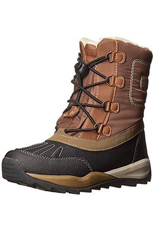 Boys Snow Boots - Geox Boys' J ORIZONT BOY ABX D Warm lined snow boots half length, (COFFEE/BLACKC6076)