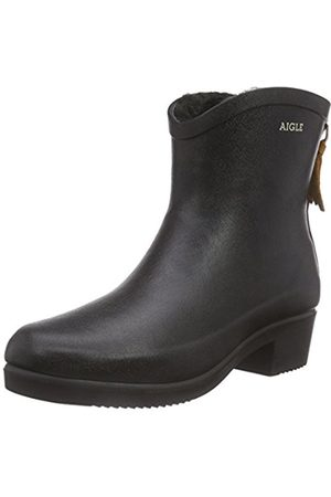 Women Snow Boots - Aigle Miss Juliette Bottillon Fur Gummistiefel, Women's Warm lined rubber boots short length