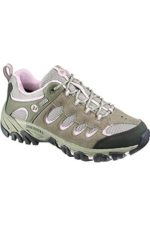 Women Shoes - Merrell Ridgepass Waterproof, Women's Lace-Up Low Rise Hiking Shoes - Brown/Brindle/Pale Lilac