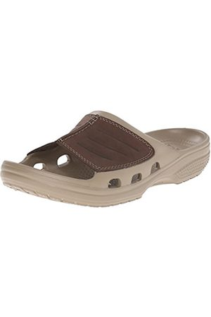 Men Sandals - Crocs Yukon Mesa Slide Men's Sandals - Khaki/Espresso