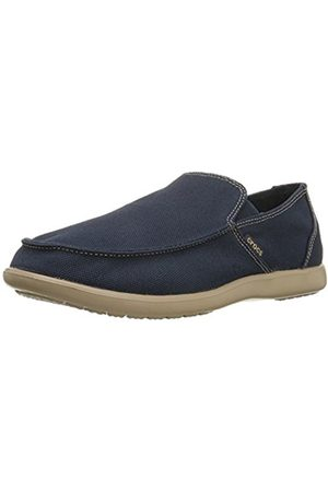 Men Brogues & Loafers - Crocs Santa Cruz Clean Cut Men's Loafers - Navy/Tumbleweed