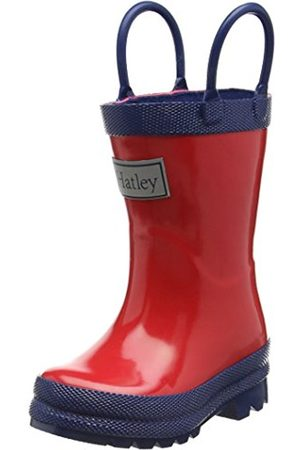 Girls Boots - Hatley Rainboots - & Navy, Girls' Rain Boots, Multicolor ( )