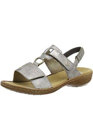Womens 62728 Gladiator Sandals, Grey (Silver), 7.5 UK Rieker