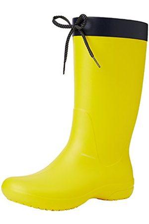 Women Boots - Crocs Women's Freesail Rain Boot Lmn, (Lemon 7C1)