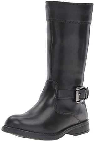 Girls High Leg Boots - Geox Girls' JR Sofia B Abx A Long Boots, (BLACKC9999)