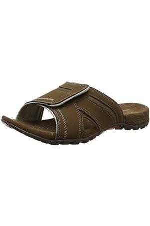 Men Flip Flops - Merrell Sandspur Pine, Men Velcro Flip Flop Sandals - Dk Earth/P. Clay