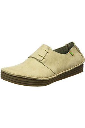 Women Flat Shoes - El Naturalista S.A Nf80 Pleasant Rice Field, Women's Derby lace-up shoes, (Piedra)
