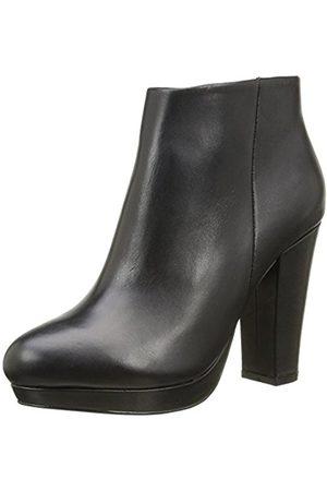 Women Ankle Boots - Buffalo Women's 410-10645 L Silk Leather Ankle Boots, -Schwarz ( 01)