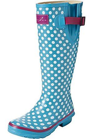 Women High Leg Boots - Polka Dot, Women Knee Lenght Boots