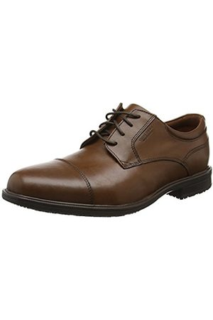 Rockport Men's Essential Detail II Captoe Oxfords, (Tan Antique Leather)
