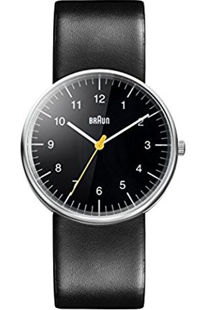 Men Watches - Men's Three Hand Movement Quartz Watch with Dial Analogue Display and Leather Strap BN0021BKBKG