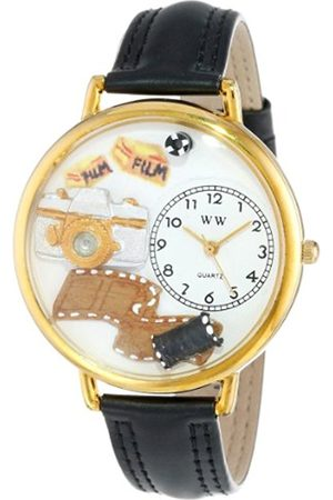 Watches - Photographer Black Padded Leather and Goldtone Unisex Quartz Watch with Dial Analogue Display and Leather Strap G-0610012