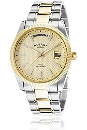 Men Watches - Men's Quartz Watch with Dial Analogue Display and Two Tone Plated Bracelet GB02661/20