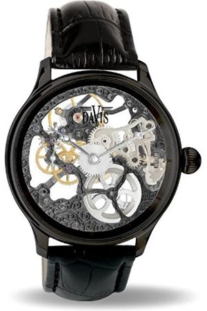 Men Watches - 0899 - Mens Skeleton Watch Hand wind Mechanical Movement leather Strap