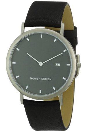 Men Watches - Danish Design Men's Quartz Watch 3316282 with Leather Strap