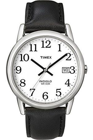 Men Watches - Timex Men's Easy Reader Date Leather Strap Watch