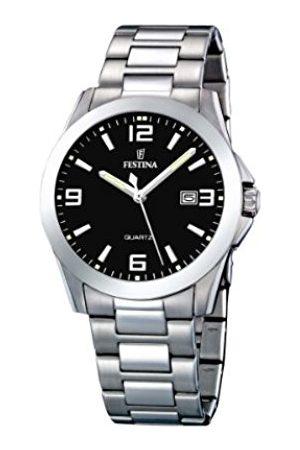 Men Watches - Festina Men's Watch F16376/4 With Steel Strap