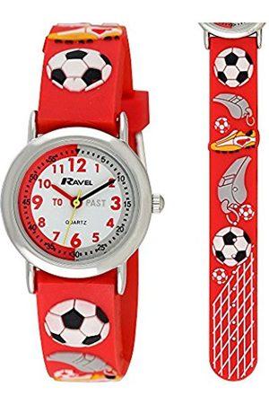 Ravel Children's 3D Red Football Crazy Time Teacher Watch