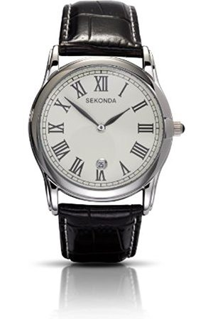 Sekonda Men's Quartz Watch with Dial Analogue Display and Leather Strap 3018.27