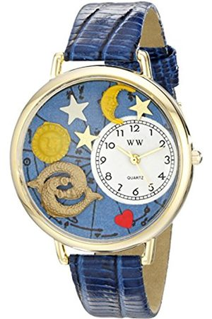 Watches - Pisces Royal Blue Leather and Goldtone Unisex Quartz Watch with Dial Analogue Display and Leather Strap G-1810009