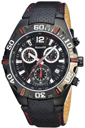Men Watches - Men's Quartz Watch with Dial Chronograph Display and Leather Strap Ms834Br