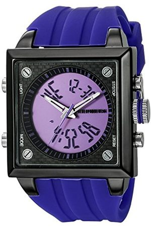 Men Watches - Men's Quartz Watch with Dial Analogue - Digital Display and Silicone Strap CP900-633B