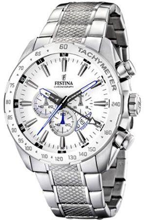 Men Watches - Festina Men's Chrono Watch F16488/1 With Steel Strap