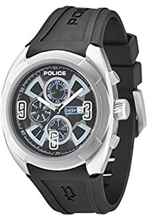 Men Watches - Police Saturn Men's Quartz Watch with Dial Analogue Display and Rubber Strap PL.13594JS/02