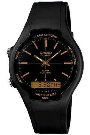 Men Watches - Casio Collection Men's Watch with Analogue Display and Resin Strap AW-90H-9EVEF