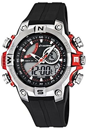 Men Watches - Calypso Men's Quartz Watch with Dial Analogue Digital Display and Plastic Strap K5586/1