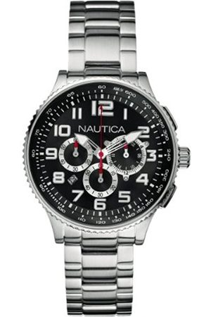 Watches - Nautica Unisex Quartz Watch with Dial Chronograph Display and Stainless Steel Bracelet A25521M
