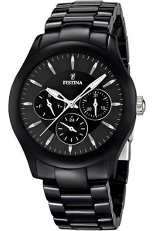 Watches - Festina Unisex Quartz Watch with Dial Analogue Display and Ceramic Bracelet F16639/2