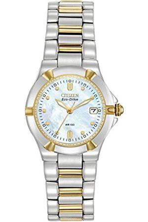 Women Watches - Citizen Women's Eco-Drive Riva Two-Tone Watch #EW1534-57D