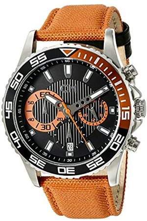 Men Watches - Avellino Men's Quartz Watch with Dial Chronograph Display and Fabric Strap CM509-124A